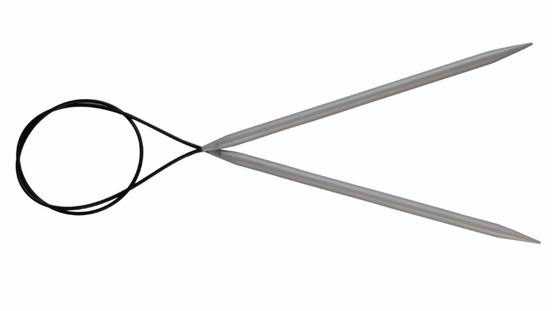 KnitPro Basix Aluminium Circular Knitting Needles - 4 mm - 120 cm lanko