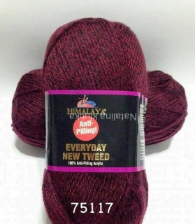 příze Himalaya Everyday New Tweed 75117 vínová