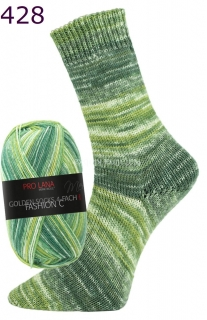 Pro Lana Golden socks 4 fach Fashion C 428 zelená